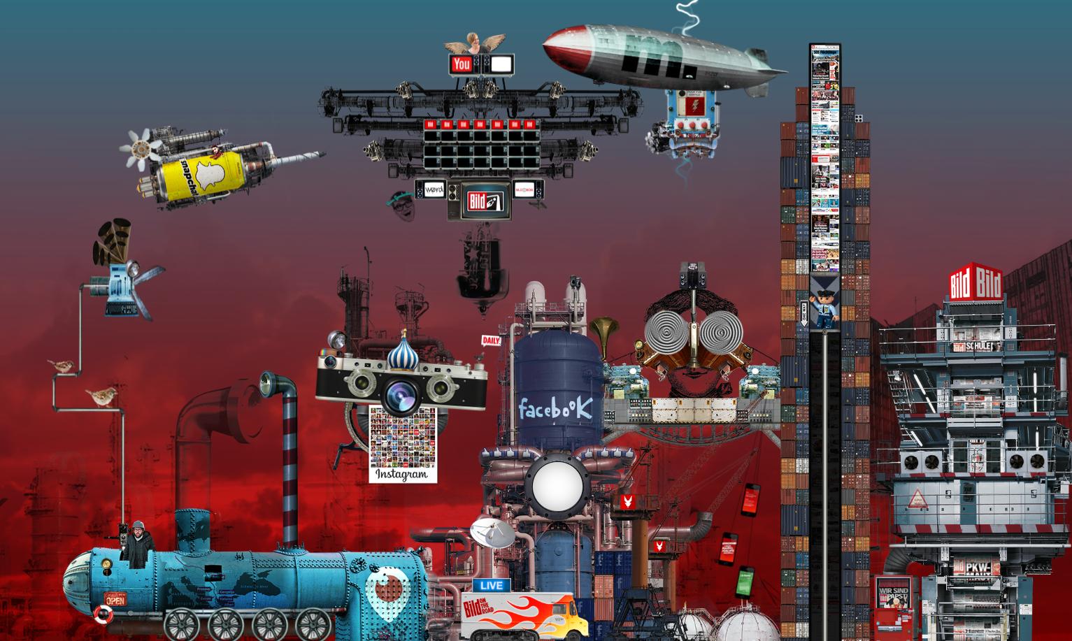 Das BILD-Platformen-Wimmelbild in finaler Anordnung der einzelnen Module