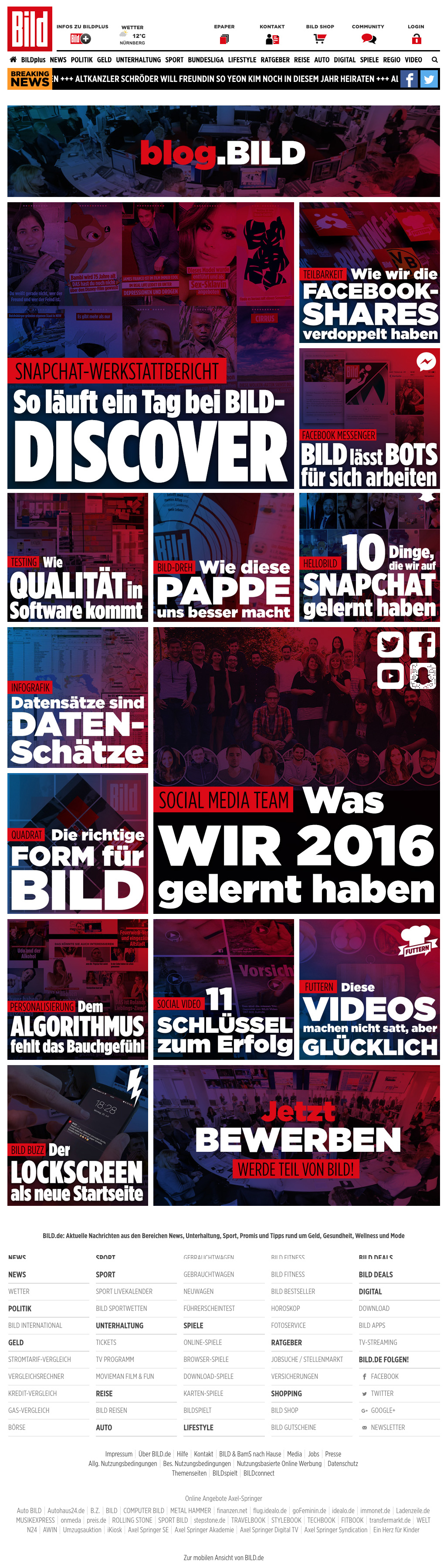 BILD Corporate Blog Screenshot
